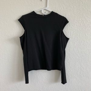 Long sleeve top with shoulder cutouts